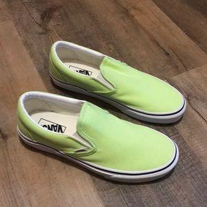 Vans Lime Green Slip On